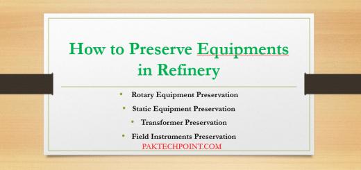 Static Equipment Preservation,Transformer Preservation, Field Instruments Preservation