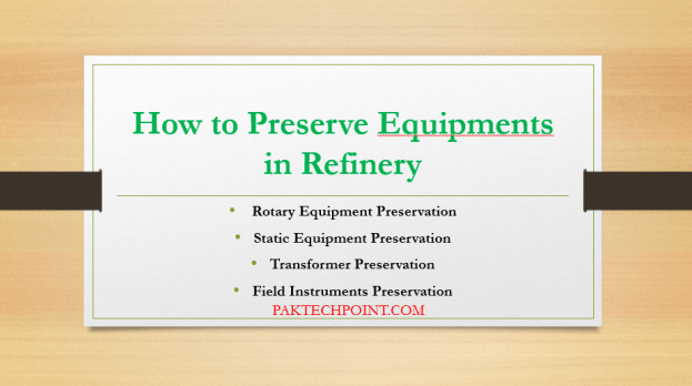 How to Preserve Equipments in Refinery, Rotary Equipment Preservation