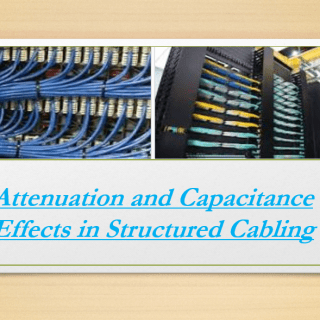 Attenuation and Capacitance Effects in Structured Cabling