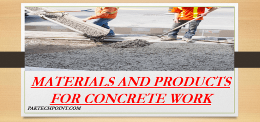 MATERIALS AND PRODUCTS FOR CONCRETE WORK