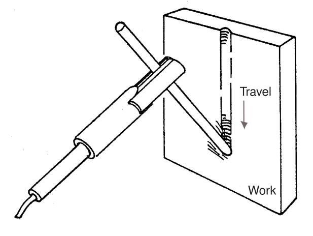 Figure 6 - Vertical Position Air Carbon Arc Gouging