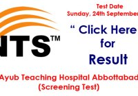 Ayub Teaching Hospital Jobs in Abbottabad (NTS Test Result)