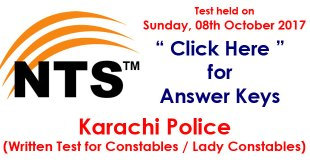 karachi police constables 8-oct-17-answer-keys-nts