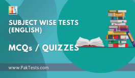 Subject Wise Quizzes (English)