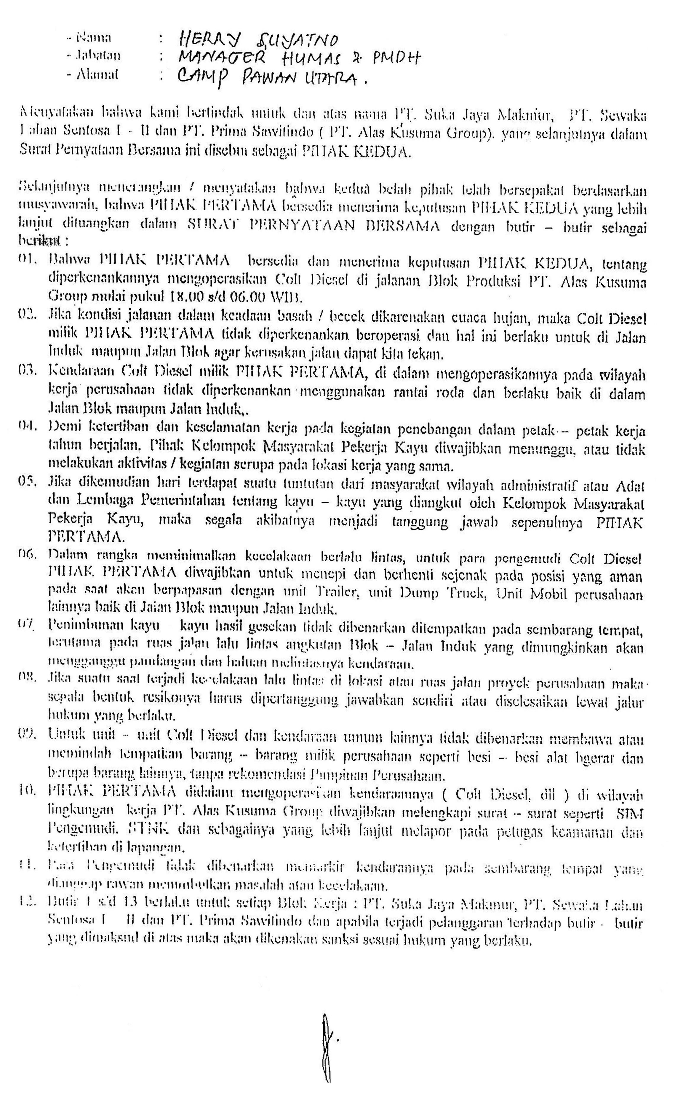 surat pernyataan bersama | TW's Blog