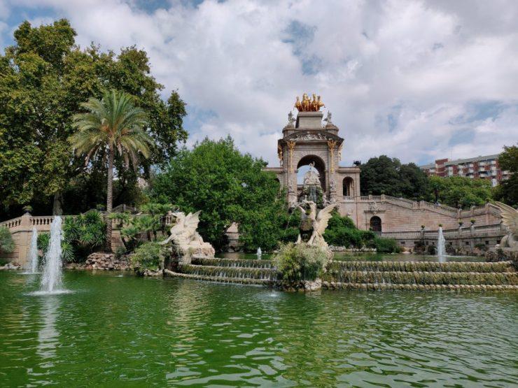 Suihkulähde Parc de la Ciutadella -puistossa