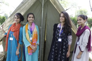 Some Female participants of the Young Leaders Scouts Camp 2015