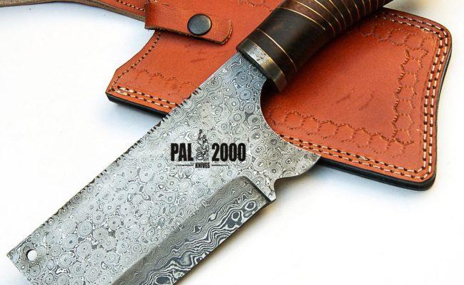 Damascus Steel Cleaver Chopper Knives Best Handmade
