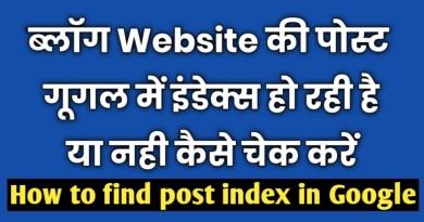 Google में post index है कैसे मालूम करें ? 3