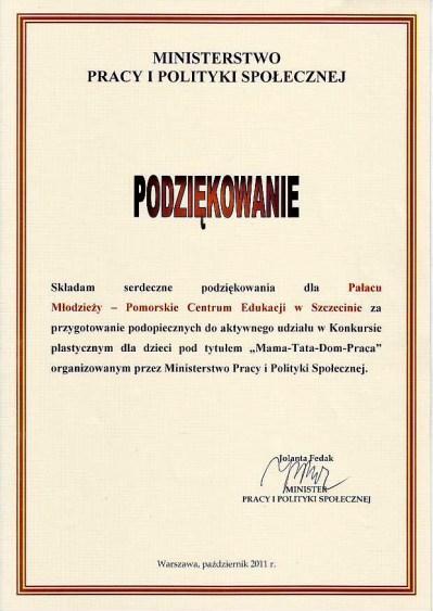 podziekowania _konkurs plastyczny