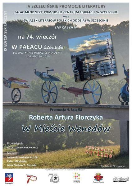 plakat promujący spotkanie zRobertem Florczykiem