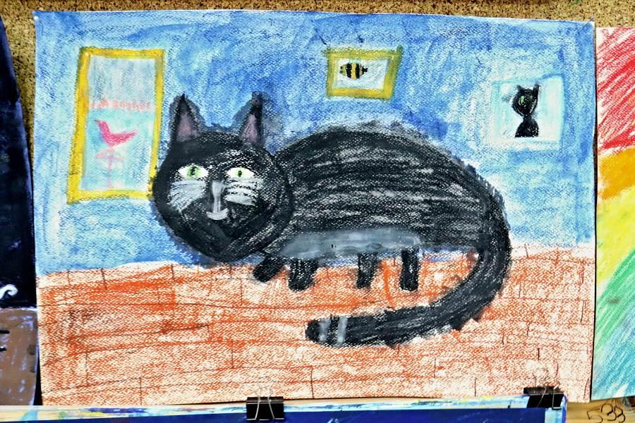 praca pastyczna - portret kota