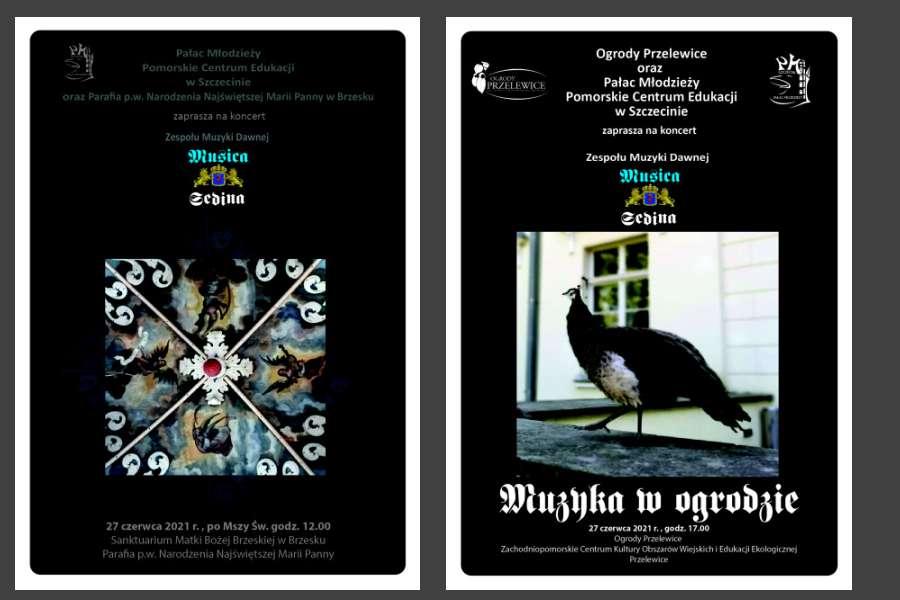 dwa plakaty zapraszające na koncerty