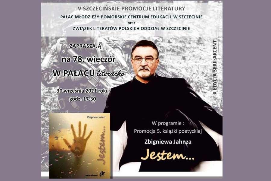 plakat promujący 78 wieczór literacki