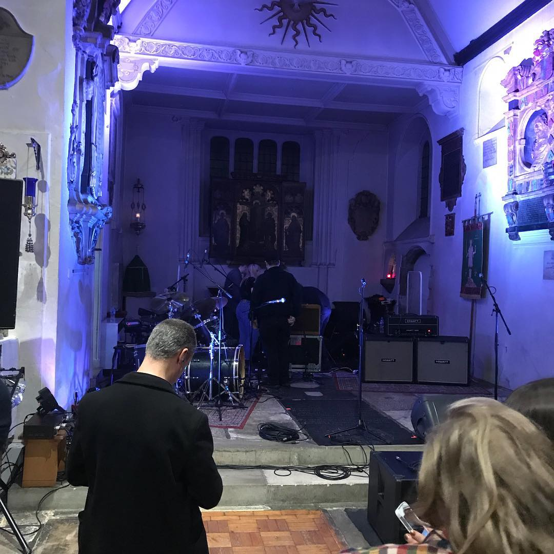 Quite the coolest venue I've been in for a while. St Pancras Old Church to see Indian Queens