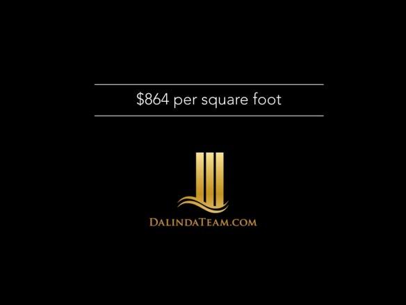 $864 per square foot