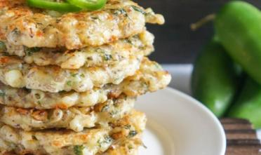 Spicy Cilantro Corn Cakes
