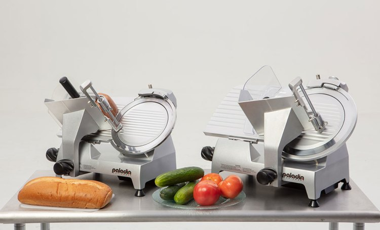 """Paladin Equipment's line of commercial food slicers includes 10"""" and 12"""" models."""