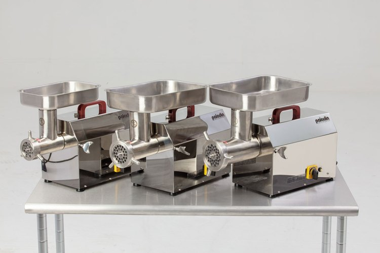 Paladin Equipment's line of commercial meat grinders.