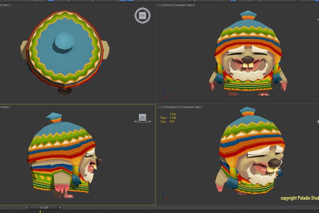 guaka-the-mole-3d-4views-shaded