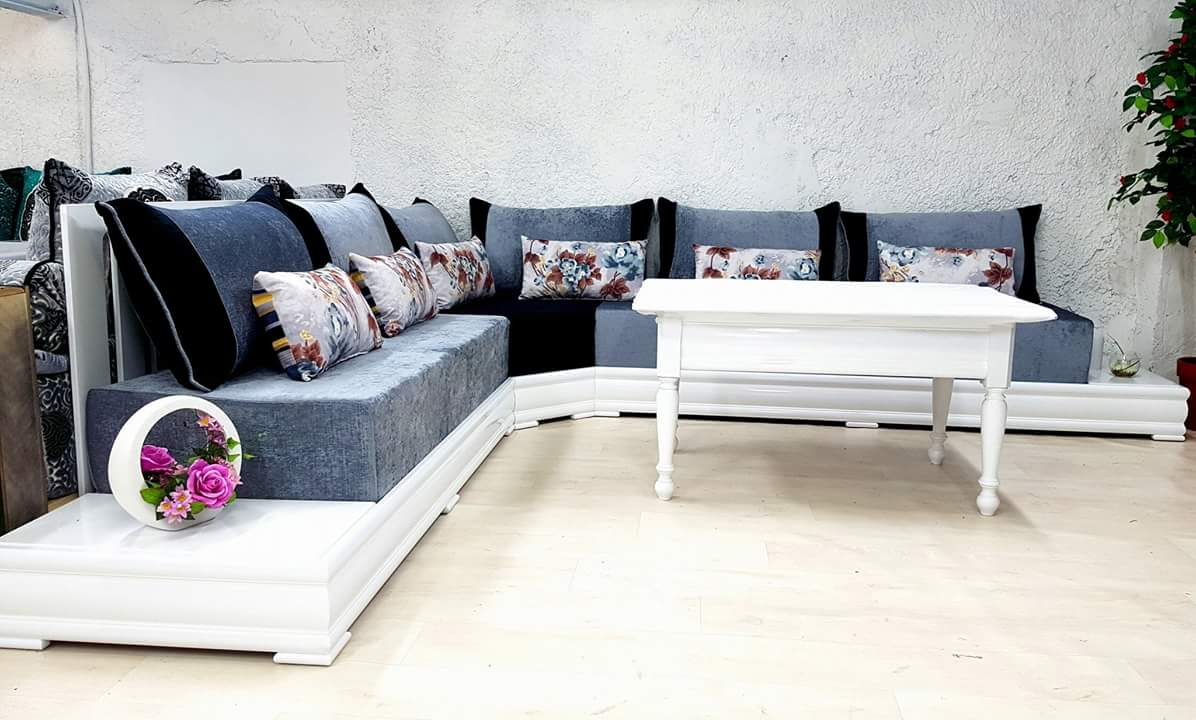 Tissu Salon Marocain   Canapé Convertible Design - Accueil ...