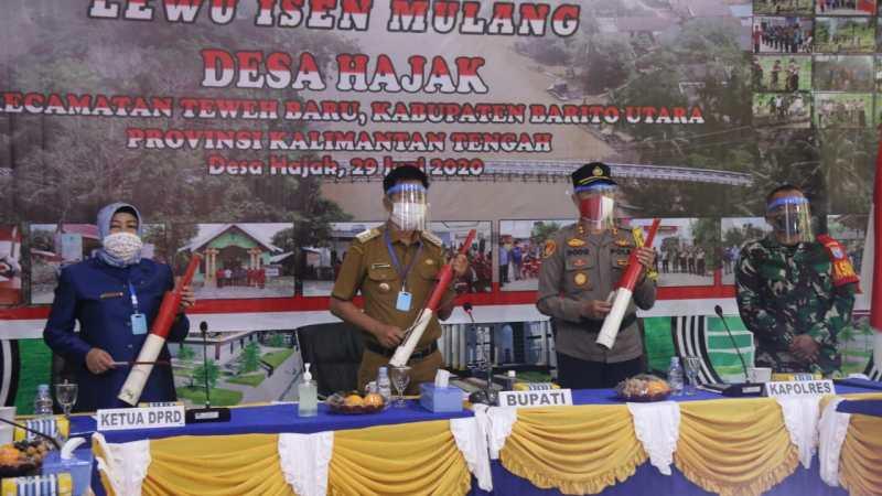 Pemkab Barut Hadiri Acara Launching Desa Insen Mulang