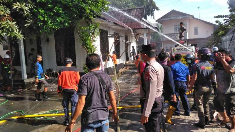 Kebakaran Rumah Di Jalan Riau Diselidiki Polsek Pahandut