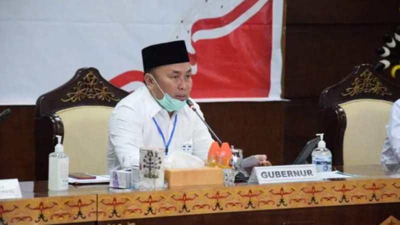 H. Sugianto Sabran Pimpin Rakor Pemantau Pilkada Serentak, Kalteng 2020.