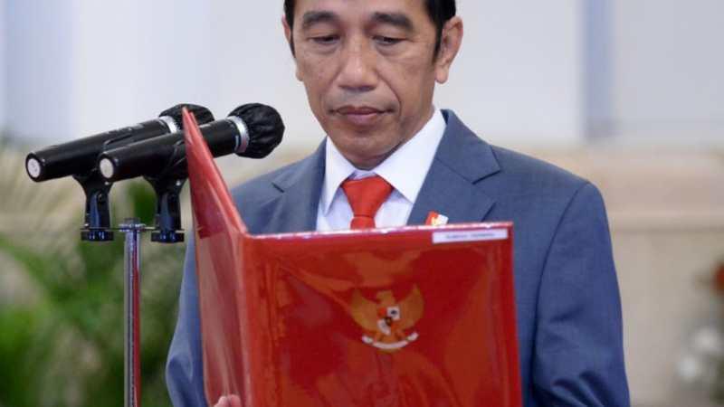 Presiden Jokowi Lantik 750 Perwira TNI dan Polri Tahun 2020
