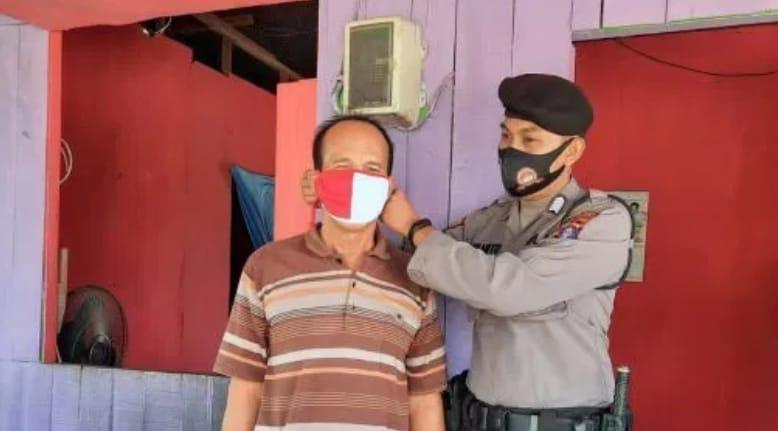 Giat : Kanit Sabhara Polsek Kahteng Berikan Himbauan Cegah Covid-19