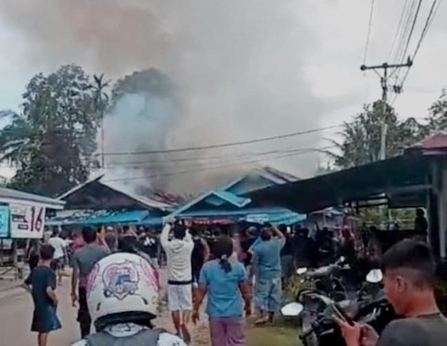 Satu Rumah Terbakar di Kecamatan Tewah Pemilik Mengalami Kerugian Rp 400 Juta