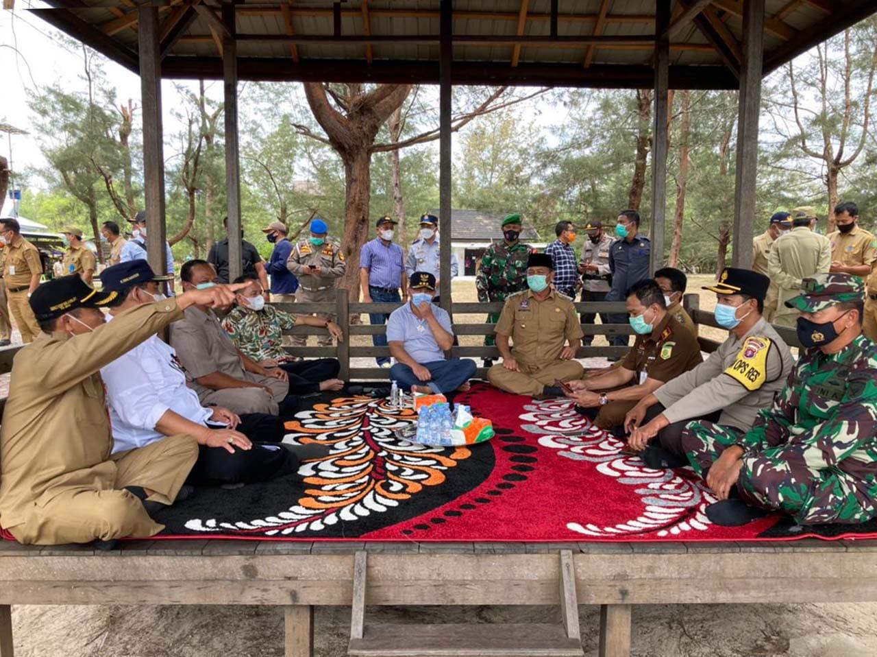 Gubernur Kalteng Kunjungi Pantai Wisata Tanjung Nipah, Kabupaten Sukamara
