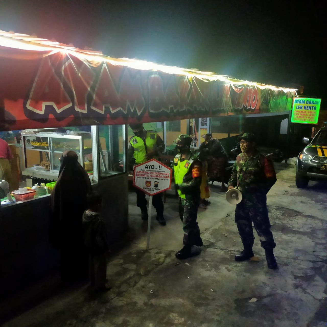 Pelda Sudarsono Pimpin Patroli Gabungan Dalam Penegakan Prokes