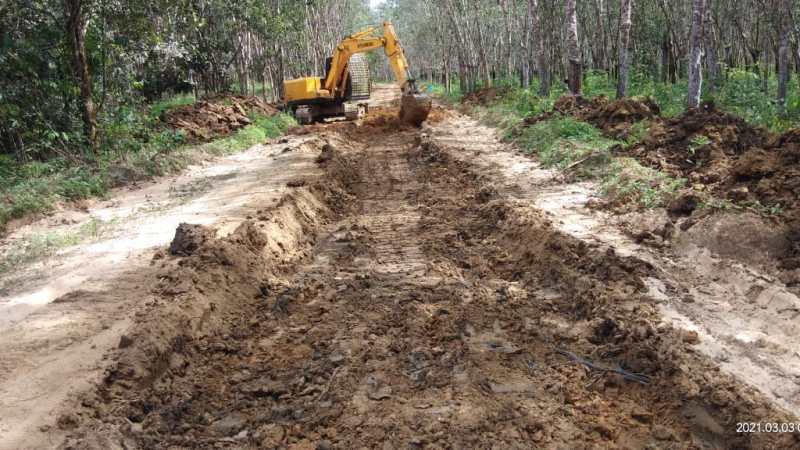 Jalan Penghubung TMMD Desa Lok Batu Akan Jadi Jalan Kabupaten