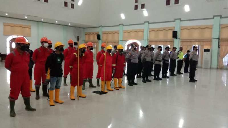 Apel Gelar Pasukan dan Sarpras Dalam  Menghadapi Bencana Karhutla