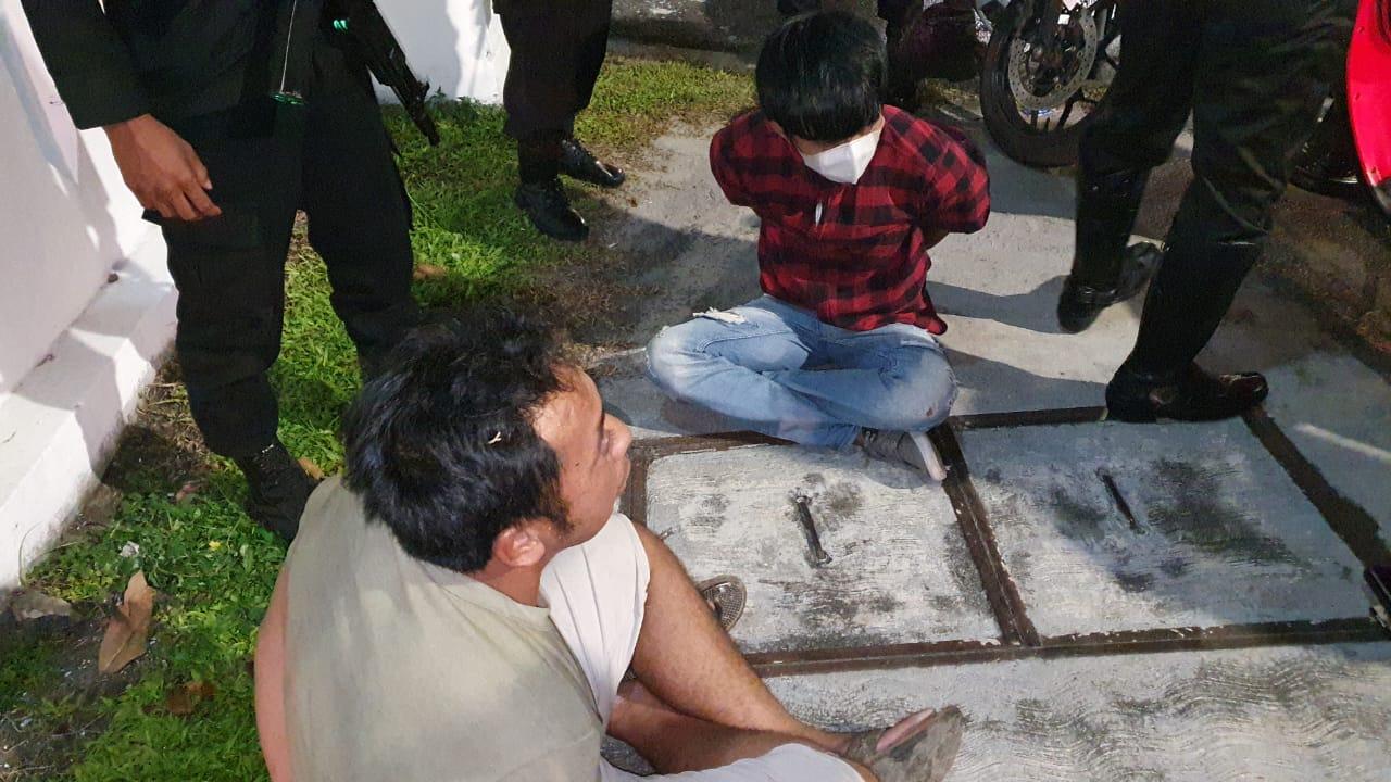 Anggota Satlantas Polresta Palangka Raya Saat Patroli Tangkap Dua Budak Sabu.