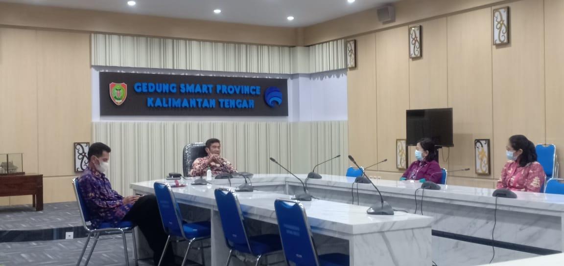 Plt. Kepala DiskominfoSantik Prov. Kalteng Agus Siswadi,  Rapat Koordinasi secara virtual Siaran Bersama GPR TV
