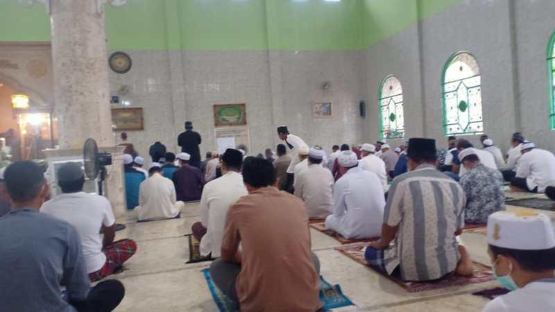 Solat Idul Fitri 1442 H. Masjid Al-Ukhuwah, Indahnya Saling Memaafkan.
