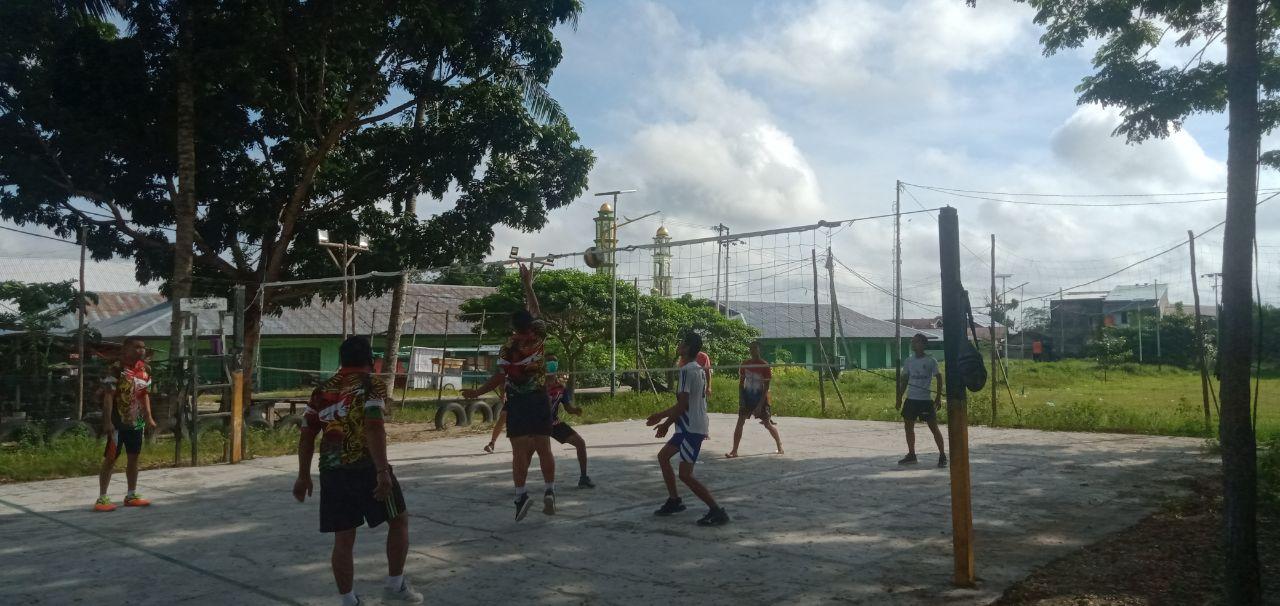 Eratkan Hubungan Dengan Masyarakat, Koramil Sukamara Rutin Gelar Olahraga Bersama