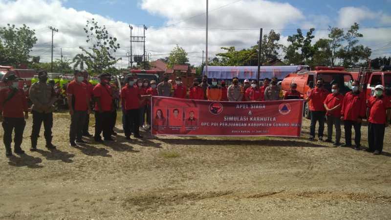 BPBD Dan Polres Gumas Apresiasi Partisipasi Parpol Dalam Penanganan Karhutla