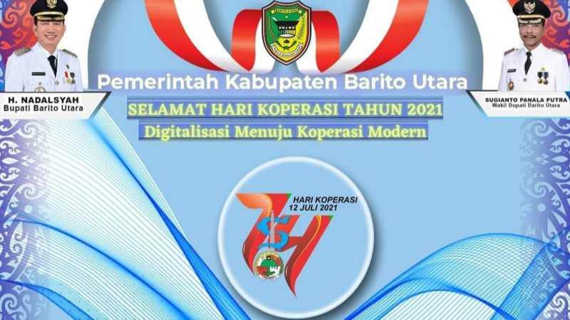 Pemerintah Kabupaten Barito Utara mengucapkan Selamat Hari Koperasi Indonesia Tahun 2021.