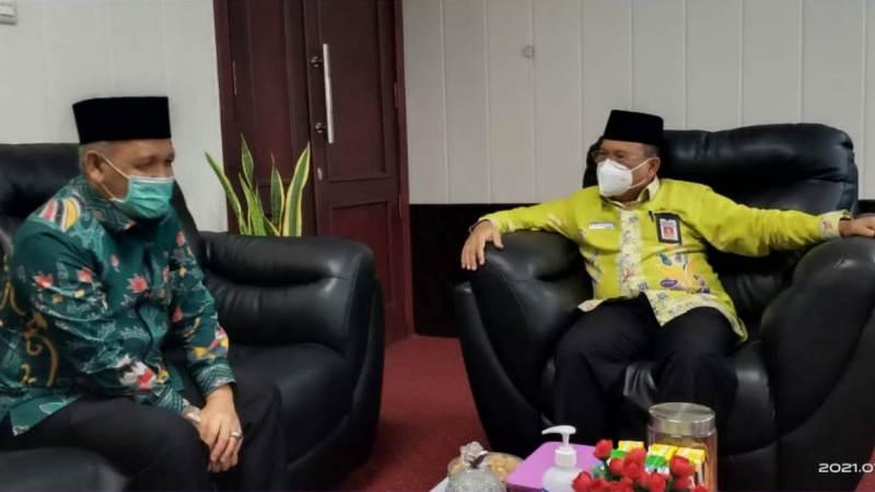 Kakanwil Kemenag Kalteng H. Noor Fahmi, Dialog Dengan Plt. Sekda Kalteng H. Nuryakin .