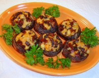 Spanish Stuffed Mushrooms with Chorizo and Manchego