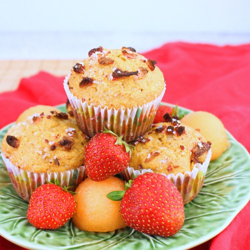 Strawberry Cantaloupe Muffins