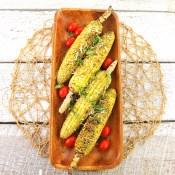 Basil Pesto Grilled Corn
