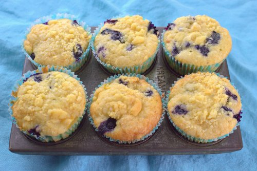 Blueberry-Peach Muffins