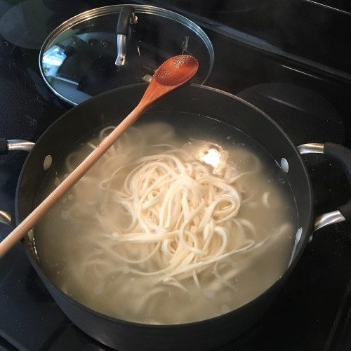 cooking noodles