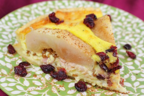 Roasted Pear Quiche