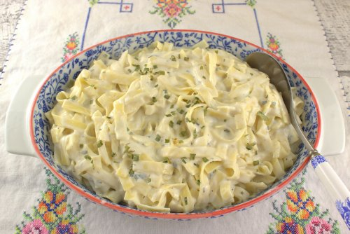 Sour Cream and Chives Noodles