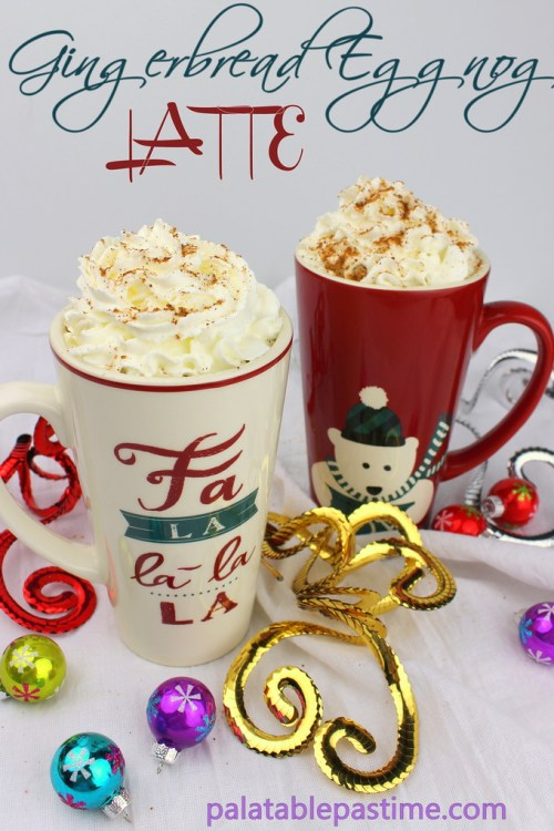 Gingerbread Eggnog Latte